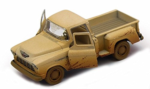 1955 Chevy Stepside Muddy Pickup, Tan - Kinsmart 5330DY - 1/32 Scale Diecast Model Replica