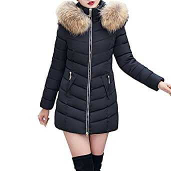Gillberry Women's Jacket Women's Jacket, Winter Jacket Long Thick Warm Down Jacket Slim Coat Overcoat Small Black