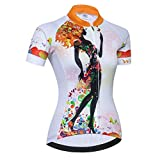 Cycling jersey Women's Bike jersey zip Shirts Short sleeve MTB Tops Road Mountain Bicycle Clothing Summer racing for ladies female Quick dry white Size XXL