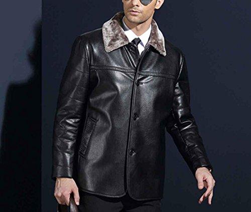 invierno Chaqueta m los 170 piel hombres de de moda para de Abrigo hombres black piel Abrigo de de casual qFTrqwt