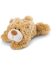 NICI 46512 Knuffel zacht speelgoed Liggend klassieke beer 20cm, Bruin
