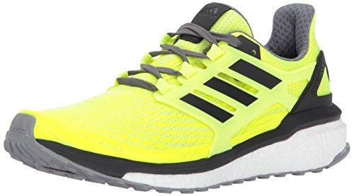 (adidas Men's Energy Boost m Running Shoe, Solar Yellow/Black/Grey Four, 10 Medium US)