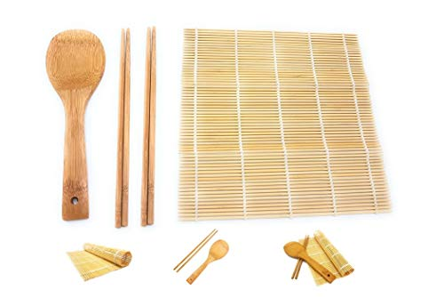BRAVO724 All-In-One Sushi Making Kit Sushi Bazooka Sushi Mat & Bamboo  Chopsticks Set DIY Rice Roller Machine Very Easy To Use Food Grade Plastic  Parts