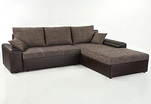Ecksofa Sharon 250x193cm Braun Couch Sofa Polsterecke Bettkasten