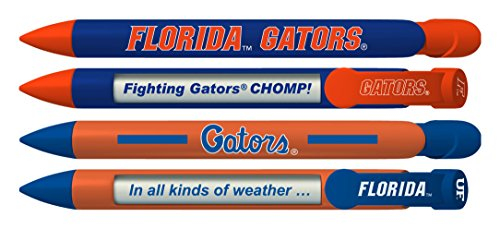 Florida Keepsake - University of Florida Gators Greeting Pen Rotating Message Pens - 4 Pack (8026) Officially Licensed Collegiate Product