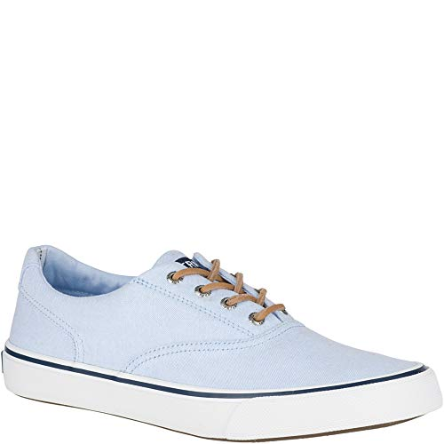 Sperry Top-Sider Striper II CVO Oxford Shirt Sneaker Men 10 Light Blue