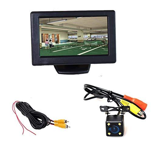 Auto parkeerhulp autoparksystemen, 4,3 inch LCD TFT-monitor + waterdicht 4-LED nachtzicht achteruitrijcamera