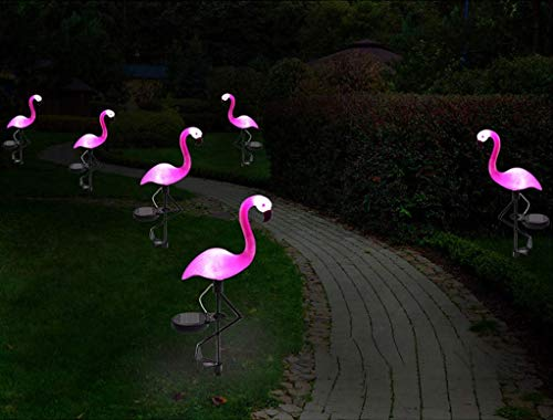 (Elumaxon Flamingo Lawn Lamp - Garden Decor Solar Lights, Solar Flamingo Lights, Outdoor Decorative Stak, Solar Pink Flamingo Yard Ornaments (Pink))