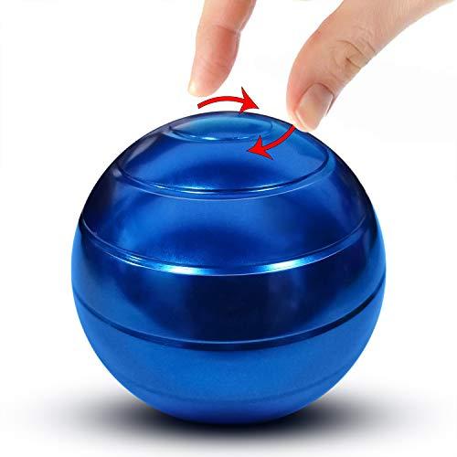 - Manzelun Kinetic Desk Toys,Full Body Optical Illusion Fidget Spinner Ball,Gifts for Men,Women,Kids (Blue)