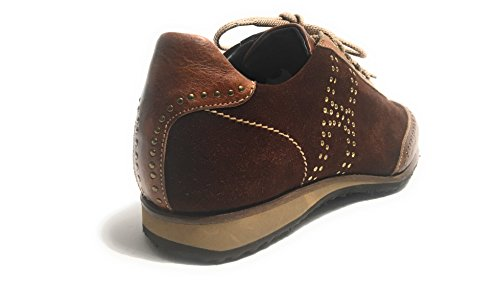 Harris - Zapatos de cordones de Piel para hombre marrón MORO E BLU YES 6UK - 40IT