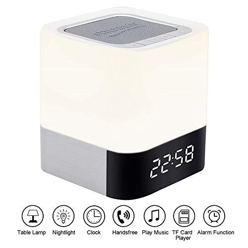 Balscw-J LED Wireless Bluetooth Speaker MP3 Music Player/Alarm Clock for Party,Bedroom,Reading Night Light Bluetooth Speaker ()
