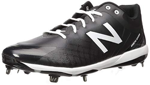 New Balance Men's 4040v5 Metal Baseball Shoe, Black/White, 12.5 XW US