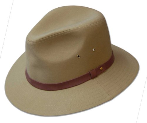 Dobbs Gable Safari Hat Khaki Large