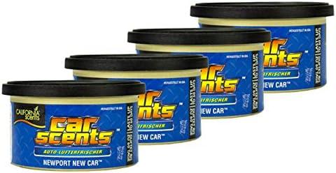4x California Scents Car Scents New Car Lufterfrischer Raumerfrischer Autoduft 7021 Drogerie Körperpflege