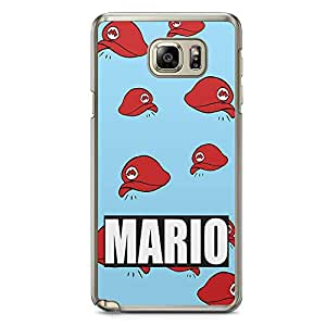 Loud Universe Mario Brother Pattern Samsung Note 5 Case Mario Cap Pattern Samsung Note 5 Cover with Transparent Edges