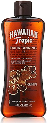 (Hawaiian Tropic Dark Tanning Oil, Original 8 fl oz (237 ml) by Hawaiian Tropic)