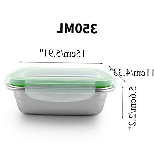 Mikash Leak Proof Food Storage Container Stainless Steel Dinnerware Lunch Boxes   Model FDCNTNR - 618   350ML