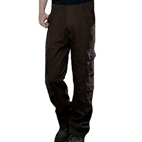 Coolred-Men Oversized Multicamo Winter Warm Straight Cargo Trousers for cheap