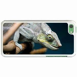 Personalized Apple iPhone 5C Back Diy PC Hard Shell Case Chameleon White