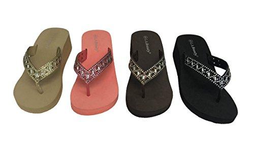 Sandali Da Spiaggia Fashion Sandali Infradito Con Zeppa Piattaforma Cuneo Comodi Caldi Estivi Beige