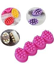 Silicone Massage Bar Ellipse Soap Mold Hand Silicone Molds for Soaps Making Soap Molds for Body, Baby, Kids