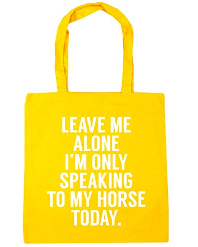 Shopping Tote 10 Beach me I'm Leave horse Gym HippoWarehouse to alone my only litres Bag Yellow today speaking 42cm x38cm vwPOTTf5pq