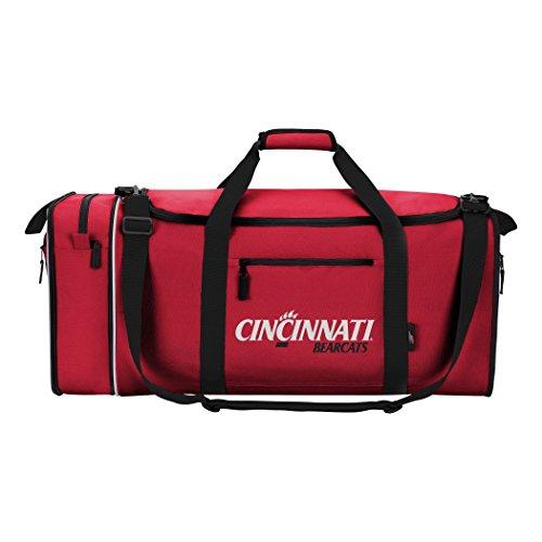 "Officially Licensed NCAA University of Cincinnati Unisex ""Steal"" Duffel Bag, Red"