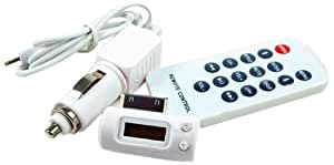 DS Styles transmisor FM para iPhone 3GS y 3 g y iPod Nano Touch G-2 &, color blanco