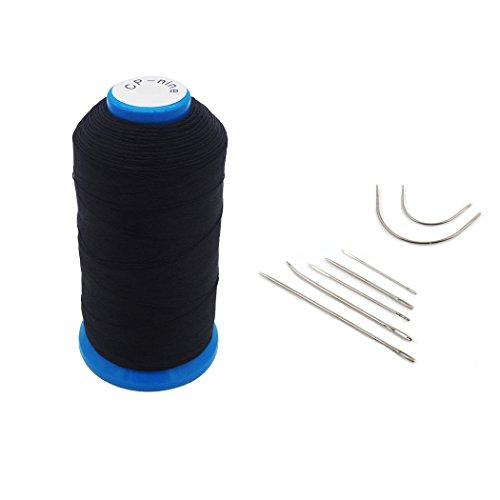 Haobase Black Bonded Nylon Sewing Thread 1500 Yard Size T70 (Vinyl Thread)