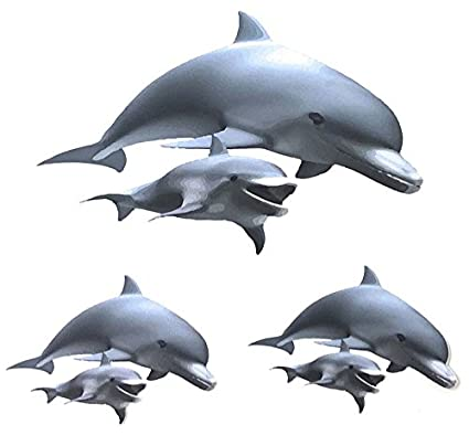 Amazon com: Dolphin Mom & Baby Decal Vinyl Sticker Set of 3 for