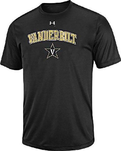 Vanderbilt Commodores Black Poly Dry HeatGear NuTech Performance Shirt by Under Armour (XXL=52)