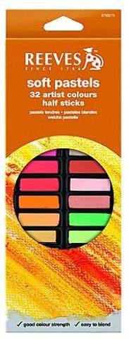Reeves Soft Pastel Sets (Set of 32 Half Sticks) 1 pcs sku# 1829285MA