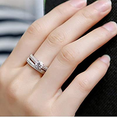Haxikocty Women Ring Personalized Metal Full Diamond Microinlaid Zircon Female Ring Jewelry Wedding Gift: Clothing