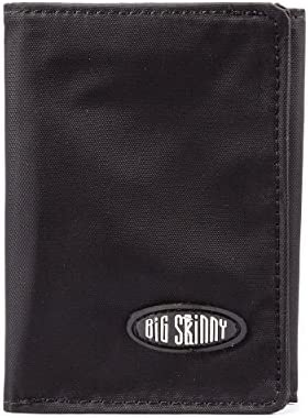 Big Skinny Men's RFID Blocking Tri-Fold Slim Wallet, Holds Up to twenty-five Cards, Black