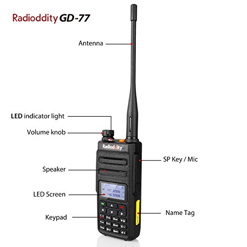 Radioddity GD-77 Dual Band Dual Time Slot DMR Digital/Analog Two Way Radio 136-174/400-470MHz 1024 Channels Ham Amateur Radio Compatible with MOTOTRBO, Free Programming Cable by Radioddity (Image #1)