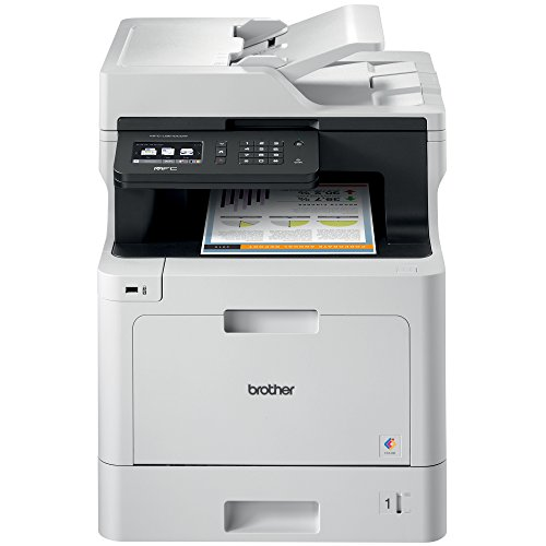 Brother Color Laser Printer, Multifunction Printer, All-in-One Printer, MFC-L8610CDW, Wireless Networking, Automatic Duplex Printing, Mobile Printing and Scanning, Amazon Dash Replenishment Enabled from Brother