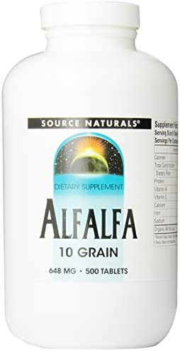 Source Naturals Alfalfa 10 Grain Dietary Supplement – 500 Tablets