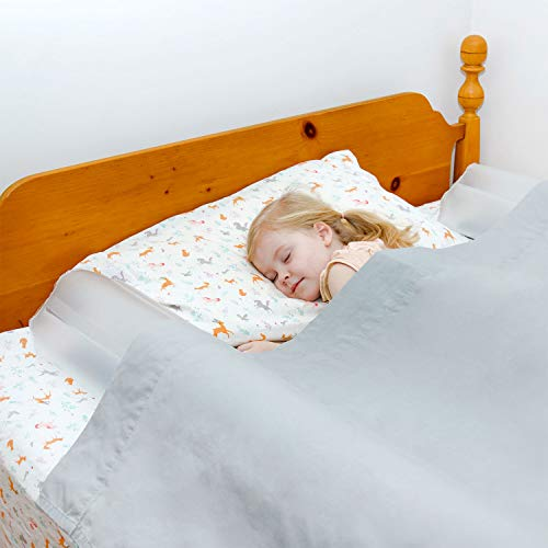 Inflatable Bed Rails for Toddlers [2 Pack] - Portable Travel Bed Rails & Blow-Up Bed Bumpers with Non-Slip, Non-Skid Security - Twin/Full Bed Safety Guard - Use for Home, Hotel, Vacation