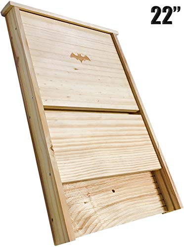 "XXL Bat House, Real Bat Box ; (22"") LONG , Bat houses for outside, MADE TO BATCON SPECS SEE INFO ON LISTING, Large bat boxes for outdoors,Attract Bats and eliminate mosquitoes,natural mosquito control"