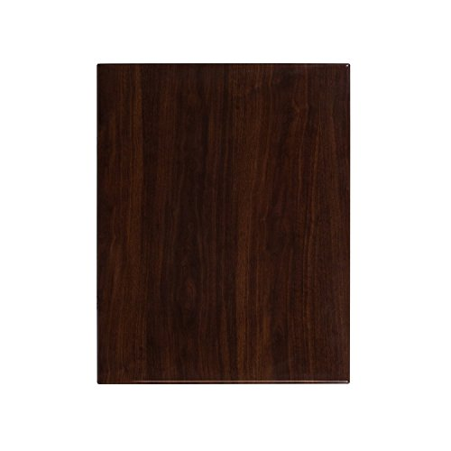 Flash Furniture 24'' x 30'' High-Gloss Walnut Resin Table Top with 2'' Thick Drop-Lip