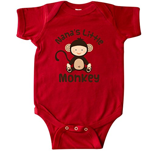 inktastic - Nana's Little Monkey Infant Creeper 6 Months Red 19f7b