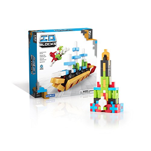 Guidecraft IO Blocks Digital Puzzle Building STEM Educational Construction Toy 192 - Piece Set