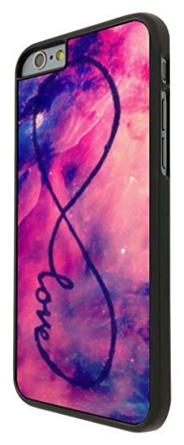 578 - Out of this world Space Galaxy Love Infinity Design iphone 6 6S 4.7'' Coque Fashion Trend Case Coque Protection Cover plastique et métal - Noir