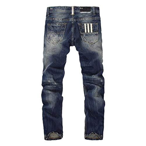 Skinny Denim Pants Fit Cotton Denim Recto Pants Vaqueros Slim Jeans Trousers Vintage Azul Deshilachados Ocio qxS0wpYC
