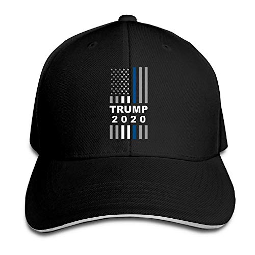 WHAT-MM Adult Vintage Trump 2020 USA Thin Blue Line Flag Snapback Hat Dad  Hat 94d8a26d629d