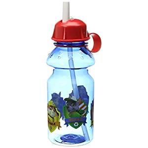 Zak! Designs Tritan Water Bottle with Flip-up Spout with Paw Patrol Graphics, Break-resistant and BPA-free plastic, 14 oz.
