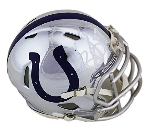 Reggie Wayne Autographed/Signed Indianapolis Colts Speed Chrome NFL Mini Helmet