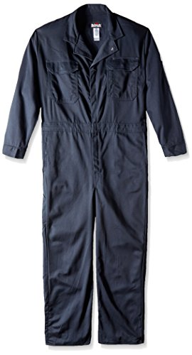 Bulwark Men's Flame Resistant 4.5 oz Nomex IIIA Classic Coverall with Hemmed Sleeves, Navy 52 Long ()