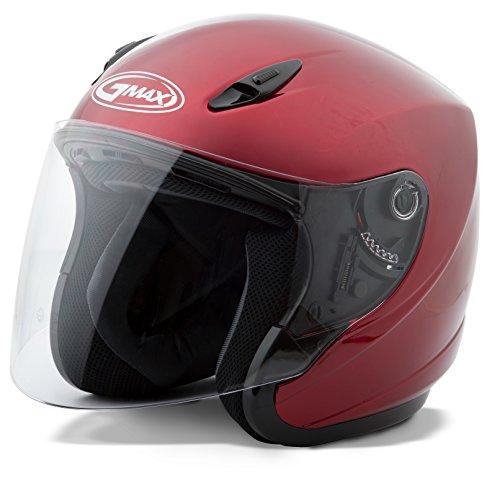 en-face-helmet-style Helmet (Gm17) (Candy Red, XXX-Large) (Red Gm17 Open Face Helmet)