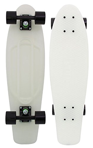Penny Skateboard – Casper 27″ – Glows in The Dark – Nickel Style Larger Deck for Stability Great for Skaters of All Levels